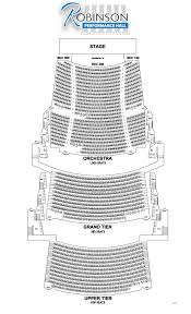 49 Always Up To Date Robinson Theater Little Rock Seating Chart