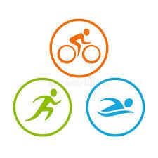 Triathlon Symbole Ustawiający Ilustracja Wektor - Ilustracja złożonej  z  symbole, triathlon: 116548006