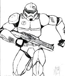 Star Wars Clone Trooper Coloring Pages Clone Trooper Coloring Page