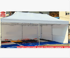 Folding Tent 20 X 20 Folding Canopy Tent 50mm Heavy Duty Outlet Tags Canopies