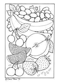 Kleurplaat Fruit Afb 9210 Images