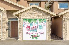 happy new year garage door covers banner outdoor home decor one car garage 76 decalhouse