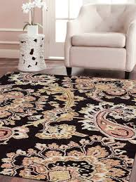 hand tufted wool square 10 x10 area rug fl brown k00151 getmyrugs com