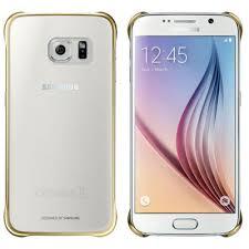 samsung galaxy s6 gold case. official samsung galaxy s6 clear cover case - gold ef-qg920bfegww n