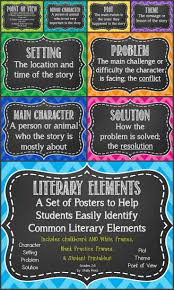 best ideas about literary elements literary literary elements poster set character setting problem more