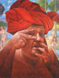 Troy Dalton - Red Turban- Met this great artist, and painted with him - may  he rest in peace.   California art, Art movement, Exhibition