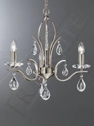 willow 3 light satin nickel chandelier franklite lighting