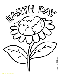 coloring pages of the earth to print fresh coloring book earth day pages with happy page flower for kids