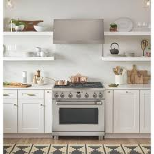 Cafe 36 In 62 Cu Ft Gas Range With Self Cleaning Convection Oven