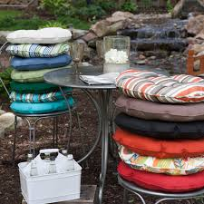 lovely round patio chair cushions c coast classic 16 in round bistro outdoor seat cushion set house remodel suggestion