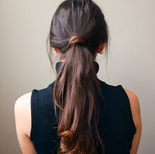5-Minute Low Messy Ponytail Hair Tutorial   Diary of a Debutante