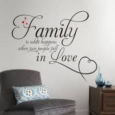 family in love home decor creative quote wall decals removable
