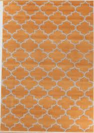 grace  orange round modern rug  rugtastic