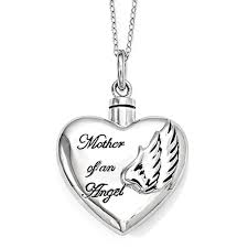 mother of an angel sterling silver cremation jewelry necklace cremation necklaces for ashes