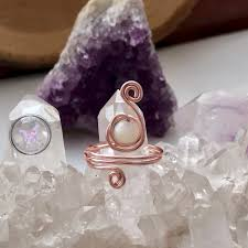 Charms Of Light Moonstone Moonstone Copper Wire Wrapped Ring Charms Of Light