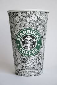 starbucks coffee cup drawing. Fine Cup Starbucks Cup Design By Johanna Basford To Coffee Cup Drawing J