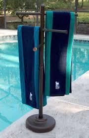 pool towel rack diy