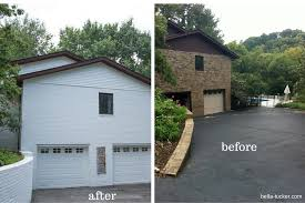 white painted brick exterior before after bella tucker
