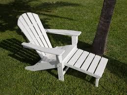 Adirondack Chair and Ottoman Polywood Palm Coast Adirondack