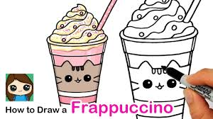 I am actually terrible at drawing but i can follow instructions pretty well so after i googled how to draw coffee and saw my favorite youtube channel for drawing: How To Draw A Cute Frappuccino Easy Pusheen Cafe Youtube