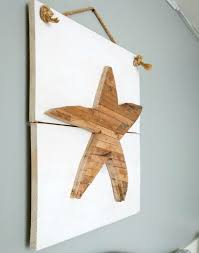 wood starfish wall art