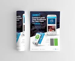 Design Flyer App Skyfi Mobile App Branding Flyer And Ui Design Dma