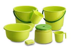 All Time 7 Piece Plastic Bathroom Set, Green: Amazon.in: Home ...