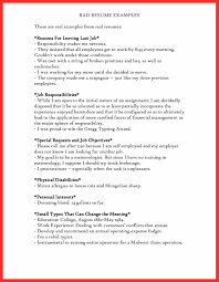Bad Resume Example bad resume examples good resume format 3