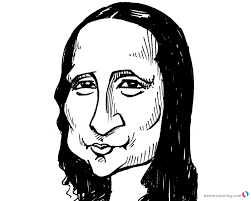 Mona Lisa Coloring Pages Clipart Drawing Free Printable Coloring Pages