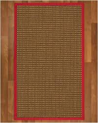 4 by 6 area rugs naturalarearugs seaside sisal area rug 4 by 6 red border size