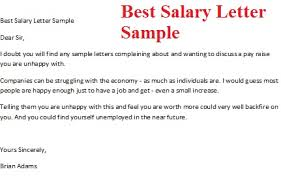 pay raise letter samples best salary letter sample jpg