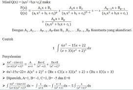 Meliputi contoh soal fungsi, contoh soal komposisi fungsi, contoh soal fungsi invers, dan contoh soal grafik fungsi yang dapat digunakan untuk mempersiapkan ujian nasional. Integral Fungsi Rasional Parsial Inayah Mathematics Education