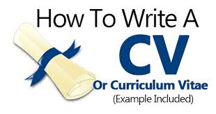 example of a written cv application how to write a cv curriculum vitae sample template included