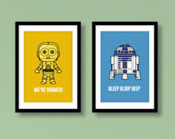 star wars inspired wall art kids wall art star wars r2 d2 c 3po droids star wars nursery star wars wall art star wars kids room on star wars baby wall art with may the force be with you wall decal starwars star wars
