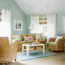simple living furniture. sky blue and white scheme color ideas for living room decorating with country style brown fabric simple furniture