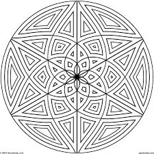 Beautiful Circle Pattern Coloring Pages Geometrip Com Free Geometric