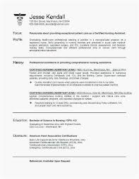 Certified Nursing Assistant Resume Examples Best Certified Nurse Resume Certified Nurse Resume Certified Nursing