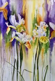 wet and wild irises