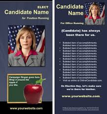 School Board Campaign Print Templates Slate Blue And Yellow