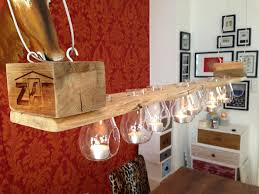 tealight candle holder from pallet wood lit