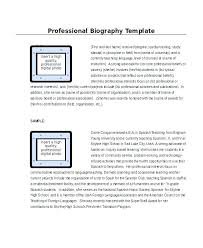 Professional Biography Samples Nenne Co