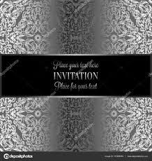 Barokke Achtergrond Met Antiek Luxe Zwart En Metaal Zilver Vintage