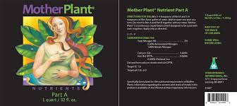 Motherplant A 2 Part Plant Nutrients For Mother Or Stock