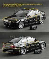 1/18 Kyosho BMW e46 M3 CSL 2003 Black w/ Bag BBS Carbon Roof RARE ...