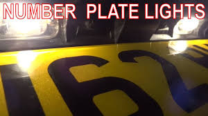 how to fix rear number plate lights license plate bulbs or wiring license plate bulbs or wiring at fault