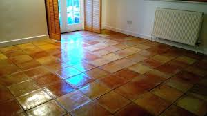paint floor tile terracotta tiled after cleaning in can you tiles painting unglazed roof