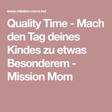 Quality Time Mach Den Tag Deines Kindes Zu Etwas Besonderem Rund