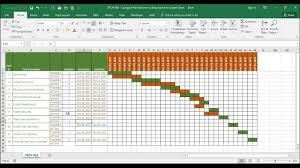 Tech 018 Compare Estimated Time Vs Actual Time In A Time Line Gantt Chart In Excel