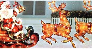 lighted reindeer outdoor decorations interesting deer wooden yard xmas sleigh and reindeer outdoor decoration