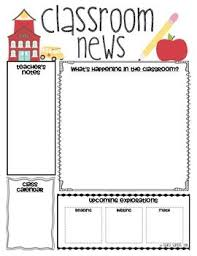School Newsletter Template For Word Classroom Newsletter Templates Classroom Classroom Newsletter